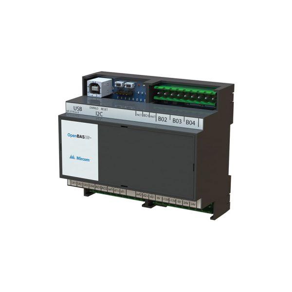 OpenBAS-HV-nxhalf Half-Sized HVAC Controller left tilt