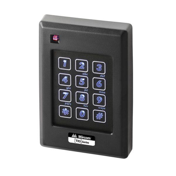 TX3-P640-H-A illuminated keypad with reader