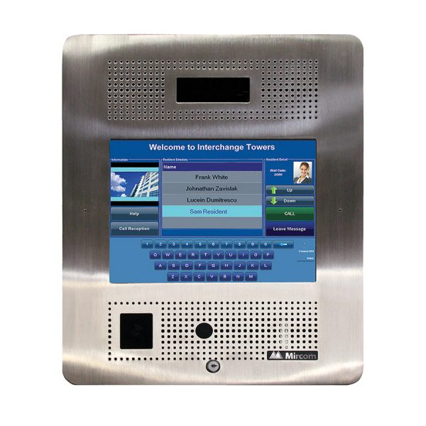 TX315 inch Flush Mount Touch Screen Telephone Access System