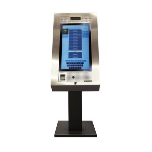 TX3 22 inch Surface Mount Touch Screen mounted onto Optional Pedestal front