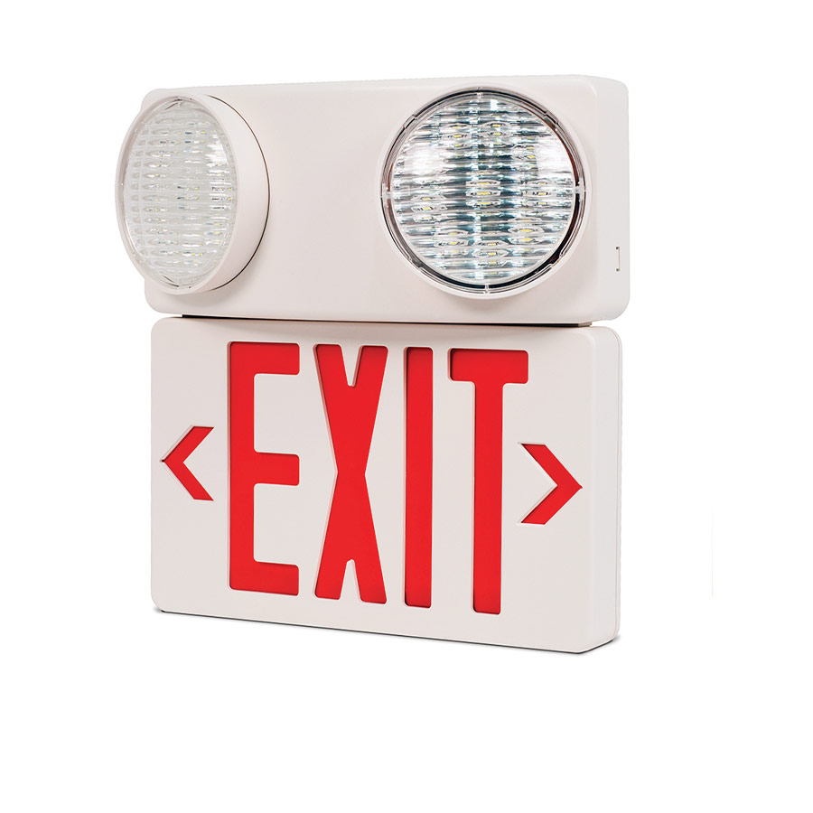 el-7011R Led Exit Sign Twin Spotlights